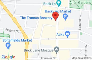 Cafe 1001, Old Truman Brewery, 91 Brick Lane, London E1 6QL, United Kingdom