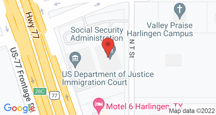 Harlingen, TX Social Security Office Map