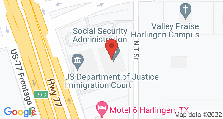Harlingen, TX Social Security Office Map