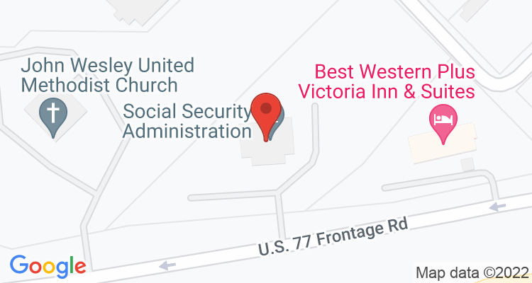 Victoria, TX Social Security Office Map