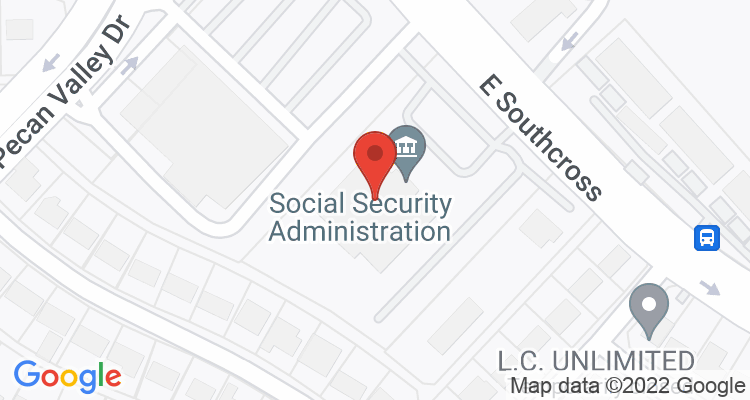 San Antonio, TX Social Security Office Map