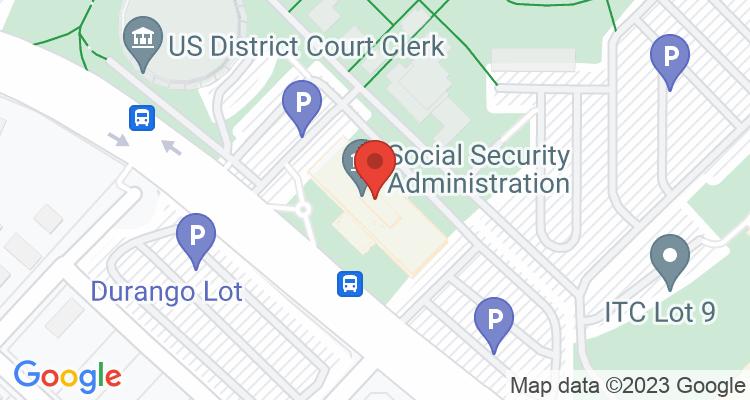 San Antonio, TX Social Security Office Map