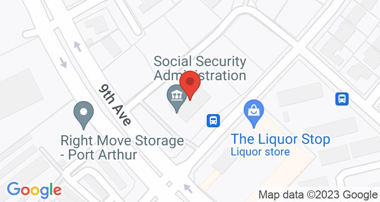 Port Arthur, TX Social Security Office Map