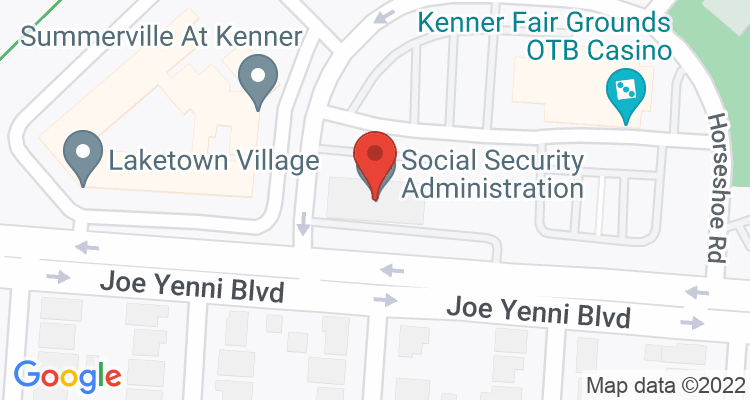 Kenner, LA Social Security Office Map