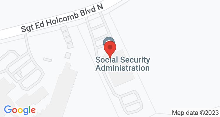 Conroe, TX Social Security Office Map