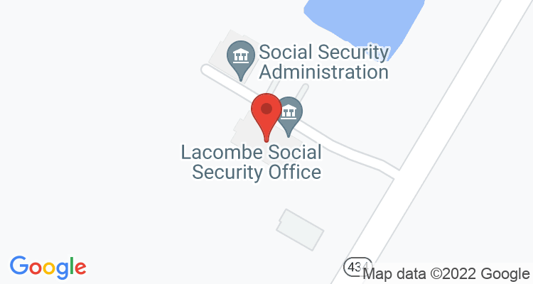 Lacombe, LA Social Security Office Map