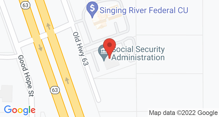 Moss Point, MS Social Security Office Map