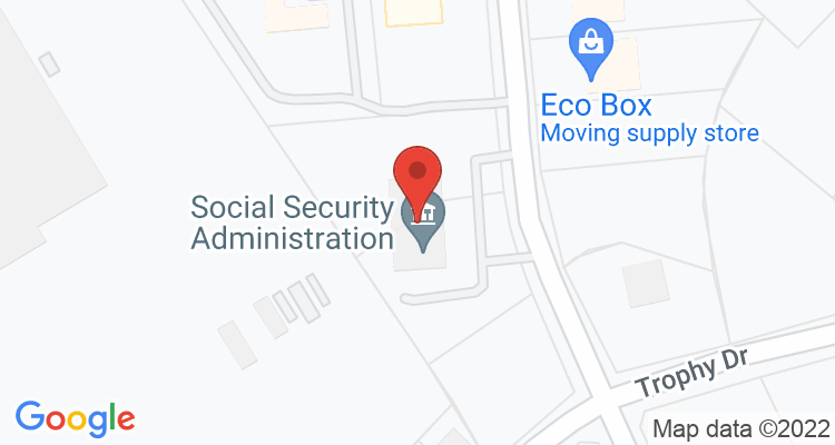 Bryan, TX Social Security Office Map