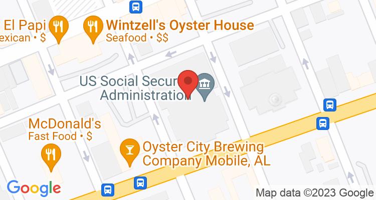 Mobile, AL Social Security Office Map