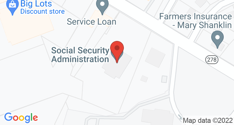 Lufkin, TX Social Security Office Map