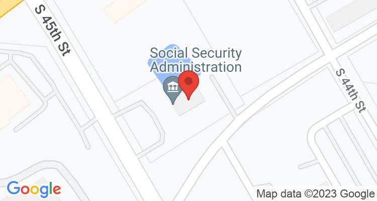 Corsicana, TX Social Security Office Map