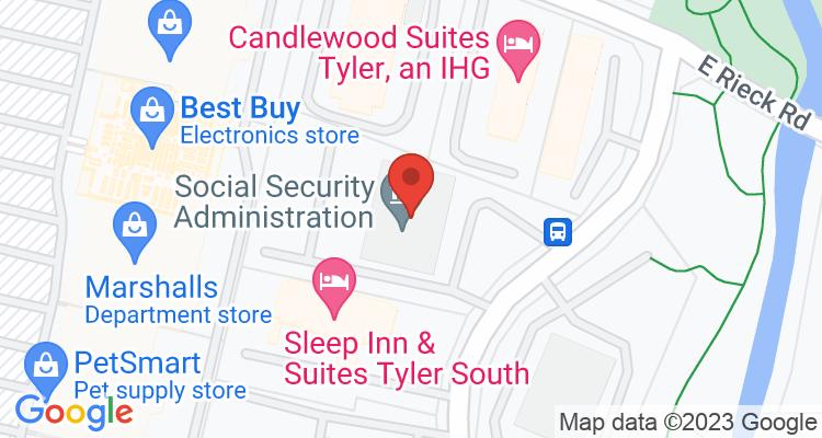 Tyler, TX Social Security Office Map