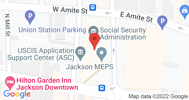 Jackson, MS Social Security Office Map