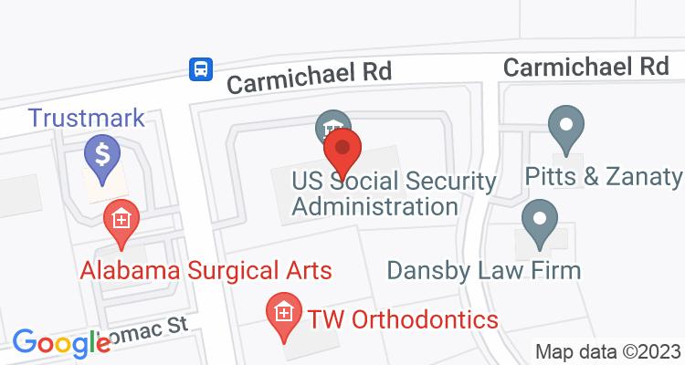 Montgomery, AL Social Security Office Map