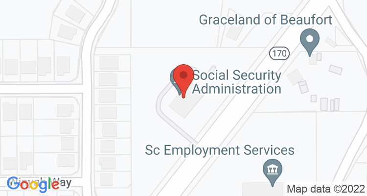 Beaufort, SC Social Security Office Map
