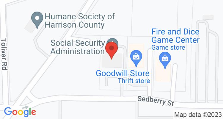 Marshall, TX Social Security Office Map