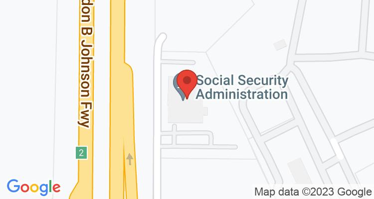 Balch Springs, TX Social Security Office Map