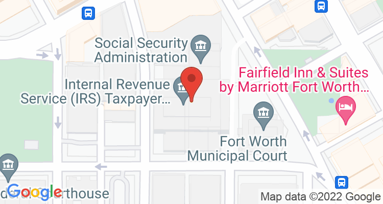 Fort Worth, TX Social Security Office Map