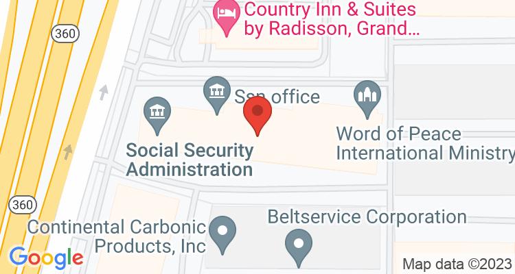 Grand Prairie, TX Social Security Office Map