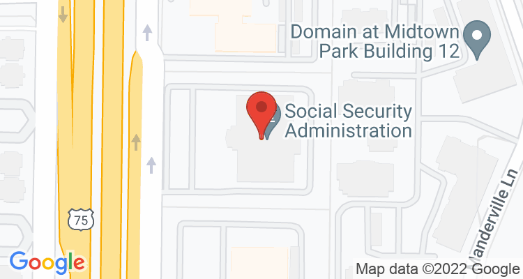 Dallas, TX Social Security Office Map