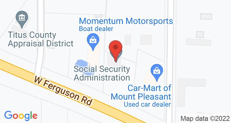Mount Pleasant, TX Social Security Office Map