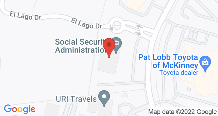 Mckinney, TX Social Security Office Map