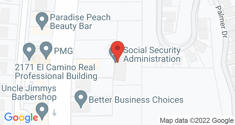 Oceanside, CA Social Security Office Map