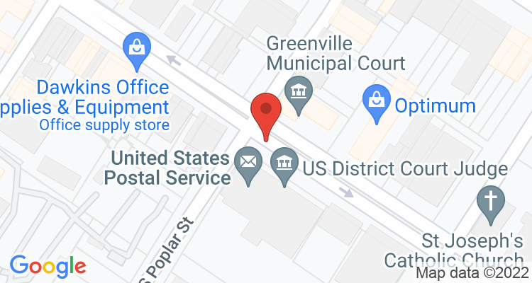 Greenville, MS Social Security Office Map