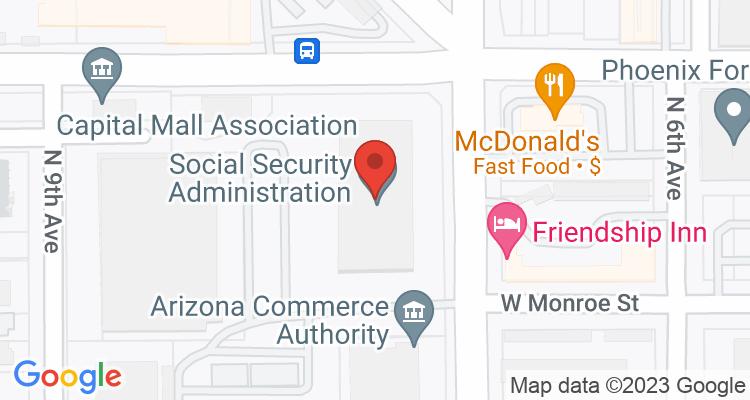 Phoenix, AZ Social Security Office Map