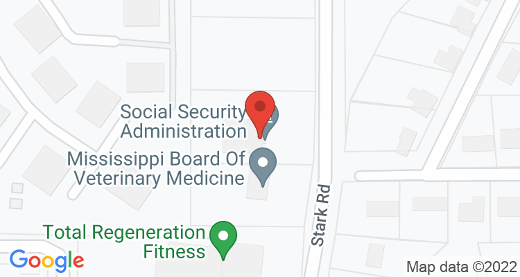 Starkville, MS Social Security Office Map