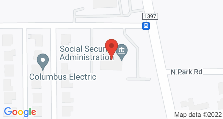 Texarkana, TX Social Security Office Map