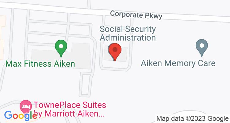 Aiken, SC Social Security Office Map