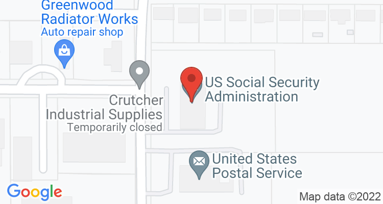 Greenwood, MS Social Security Office Map