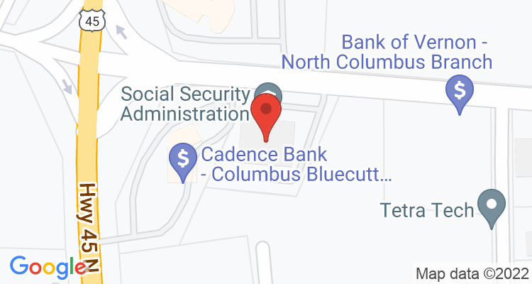 Columbus, MS Social Security Office Map
