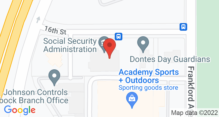 Lubbock, TX Social Security Office Map