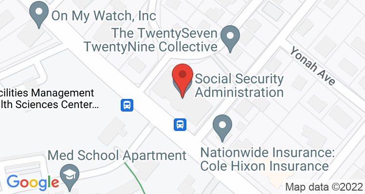 Athens, GA Social Security Office Map