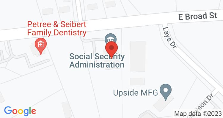 Winder, GA Social Security Office Map
