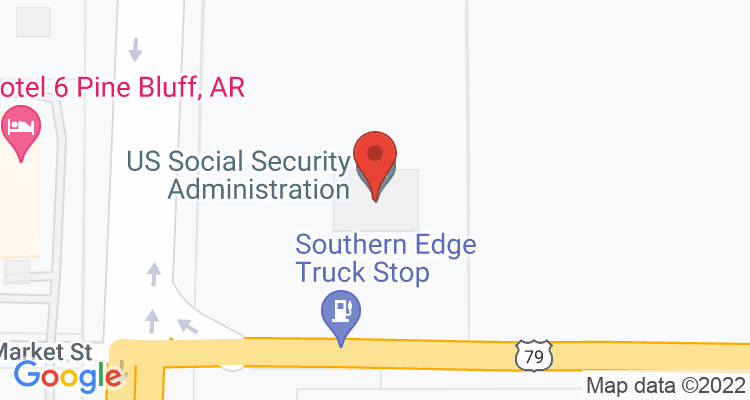 Pine Bluff, AR Social Security Office Map