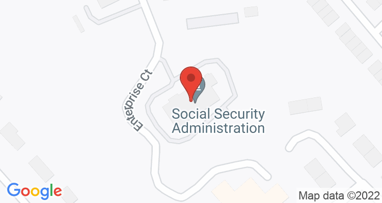 Greenwood, SC Social Security Office Map