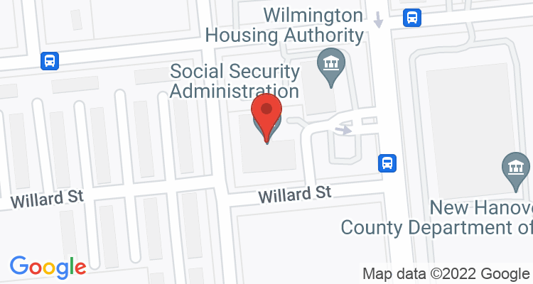 Wilmington, NC Social Security Office Map