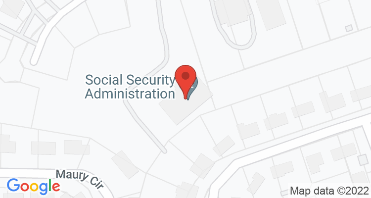 Tupelo, MS Social Security Office Map