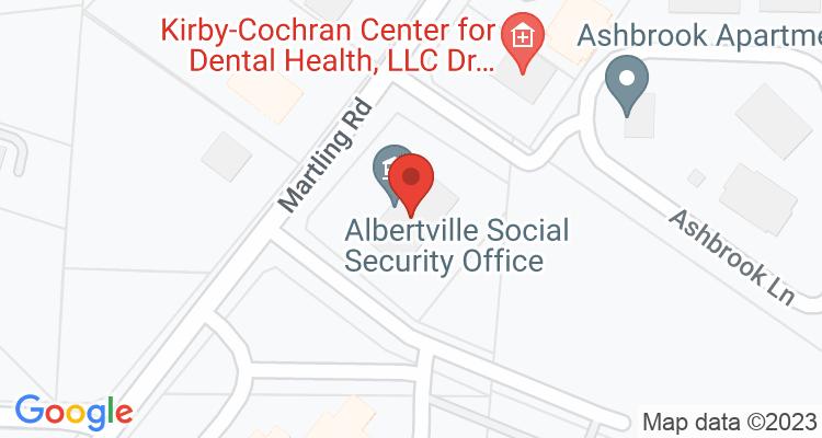 Albertville, AL Social Security Office Map