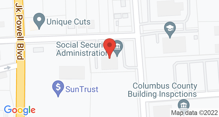 Whiteville, NC Social Security Office Map