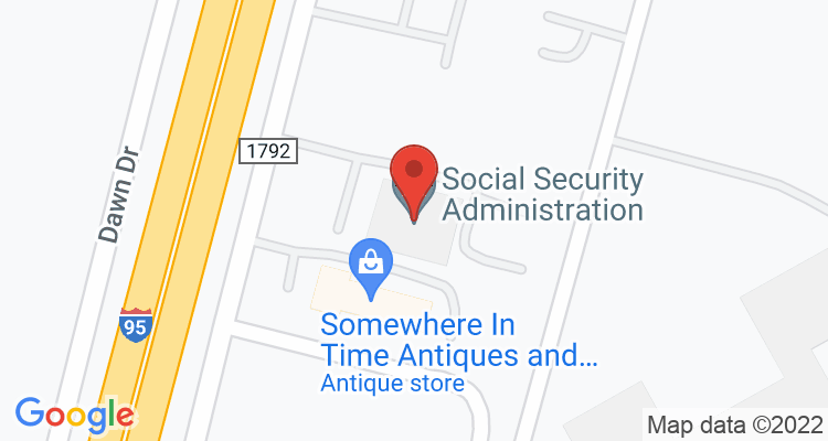 Lumberton, NC Social Security Office Map