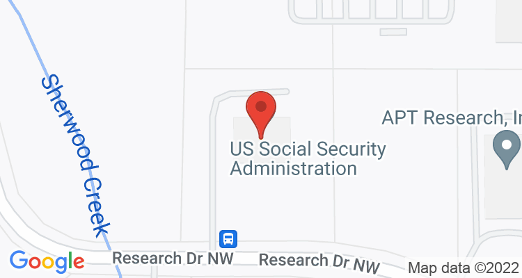Huntsville, AL Social Security Office Map