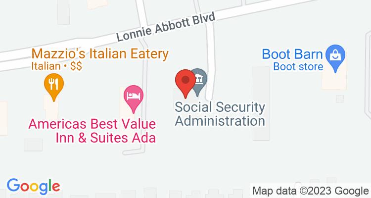 Ada, OK Social Security Office Map