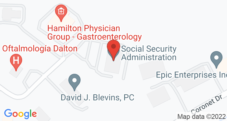 Dalton, GA Social Security Office Map