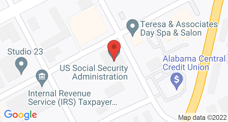 Florence, AL Social Security Office Map