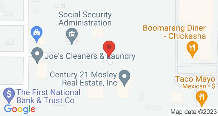Chickasha, OK Social Security Office Map