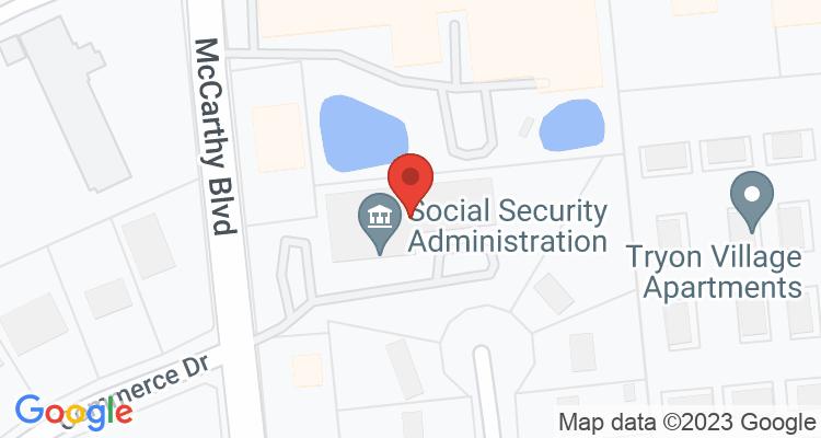 New Bern, NC Social Security Office Map